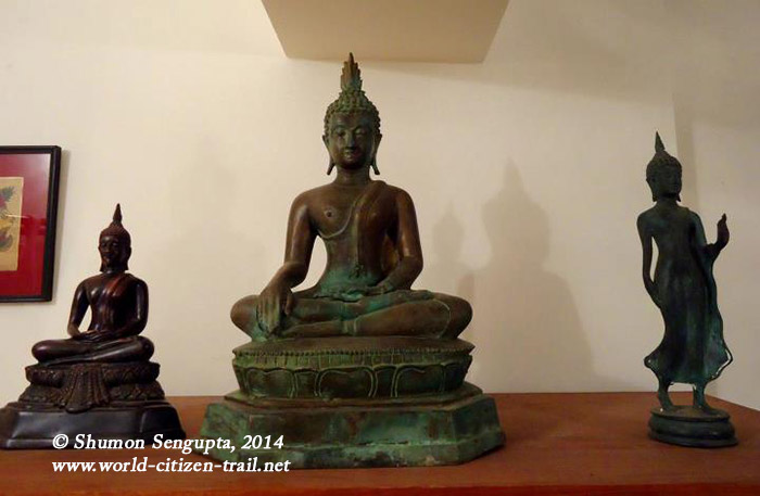 Middle and right- -Lord Buddhas in Bronze-Source- Laos--Left- -Lord Buddha