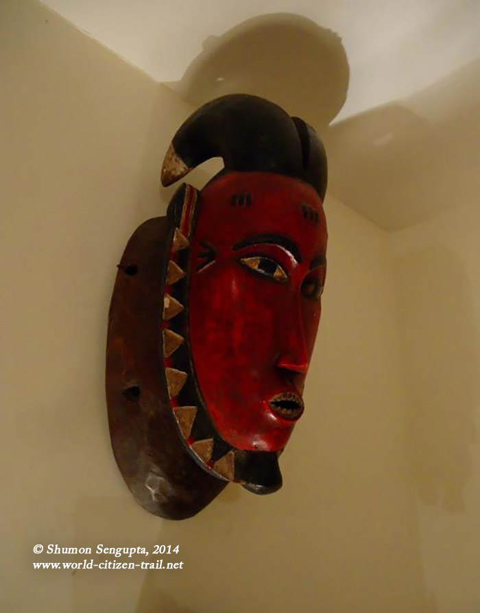 Most probably is a Guro mask (the elongated type). Guro masks are often very
