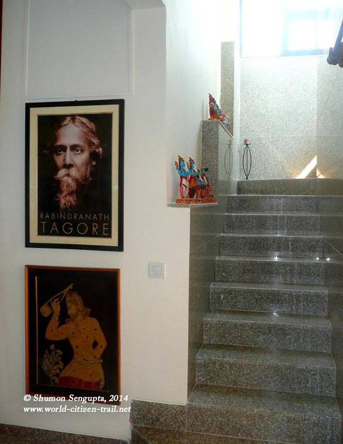 Rabindranath Tagore and Lalon Shah - the latter in Batik done by my Mother.