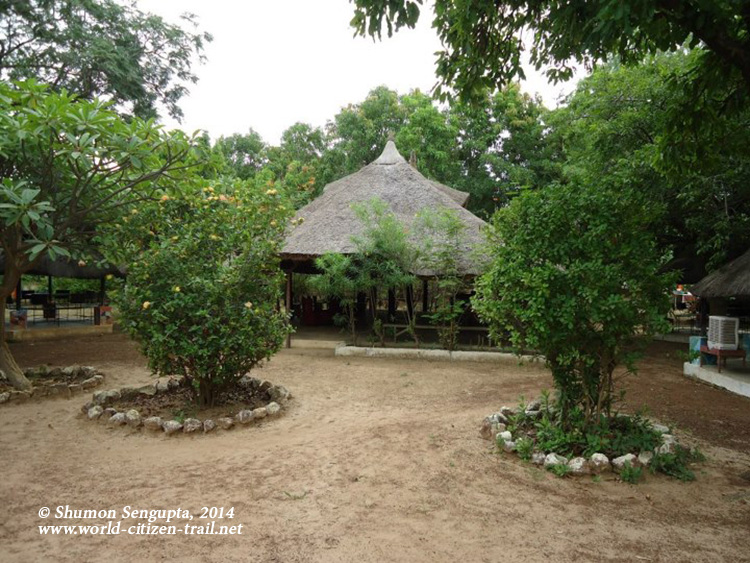 The down to earth Eco resort at Ouagadougou, the capital of Francophone Burk