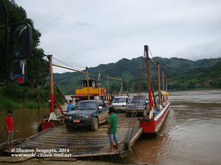 The ferry over the Mekong in Sayabouri Province, Northern Laos
