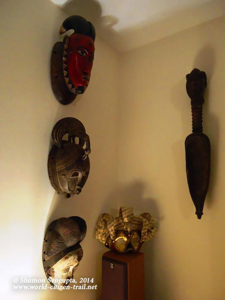 Wooden Masks and wooden spoon- Procured from Ouagadougou, West Africa-Paper