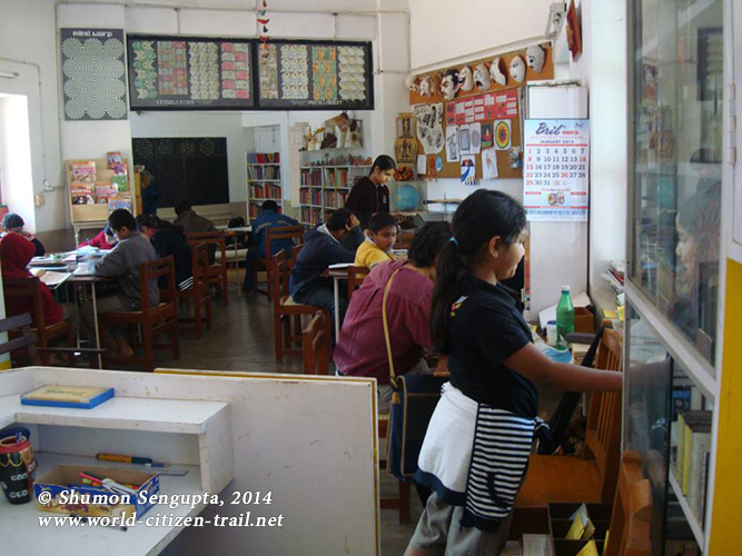 At the Junior school library at Rishi Valley School