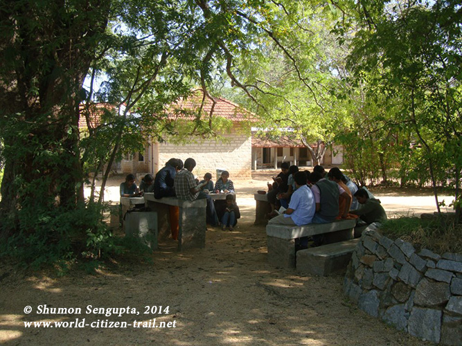 School without walls at Rishi Valley School.