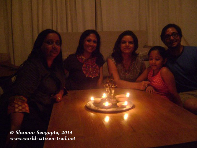 This was the most impromptu and charming Diwali we have had so far... Saima,