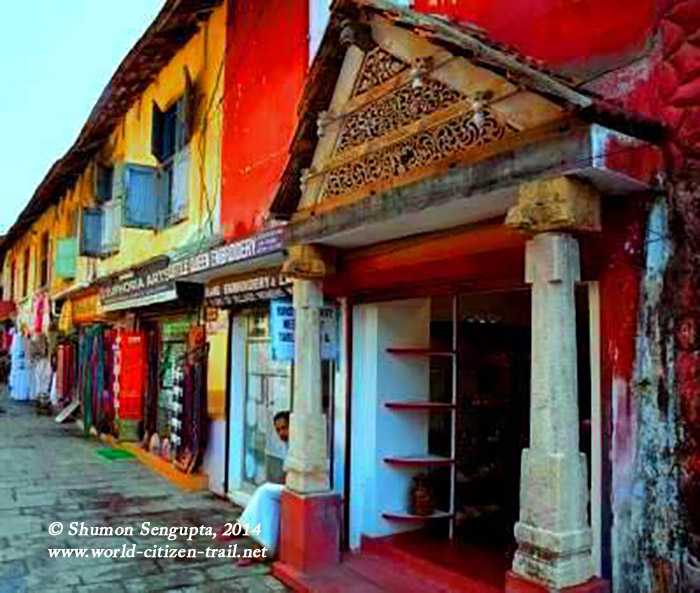 ancient street in Jew Town, Cochin