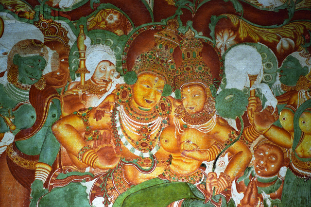 Mural Fresco in Mattancherry Palace