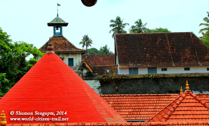 The clock tower and part of the Synagogue seen from first floor of the adjacent Dutch (Mattancherry) Palace