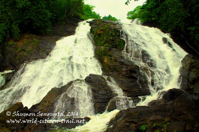 A small waterfalls by the road to Vazhachal