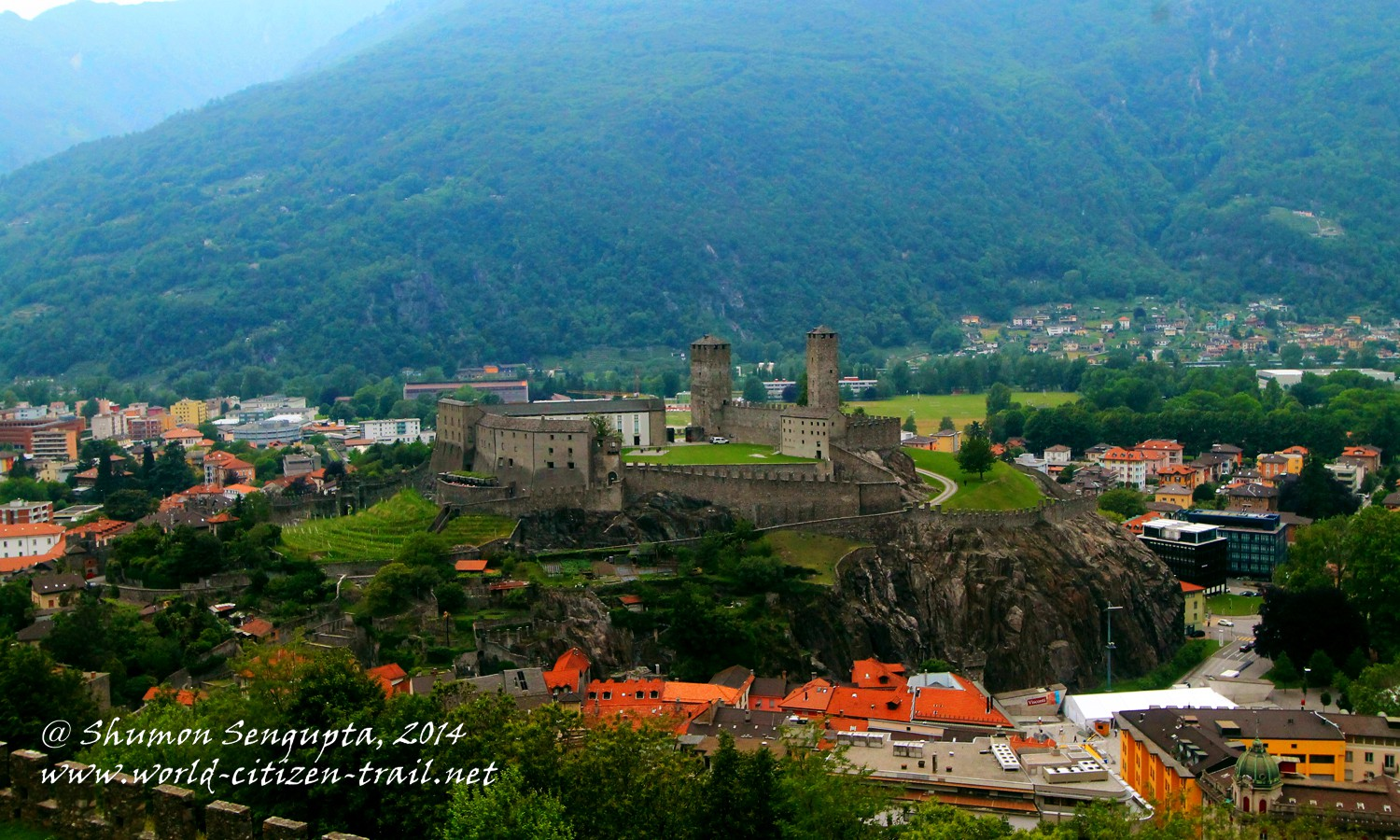 The Castles of Bellinzona, Ticino, Switzerland