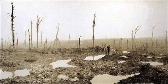 Officially known as the Third Battle of Ypres,  Passchendaele became infamous not only for the scale of casualties,  but also for the mud. Source: http://www.flandersfieldsmusic.com/ww1-photos.html