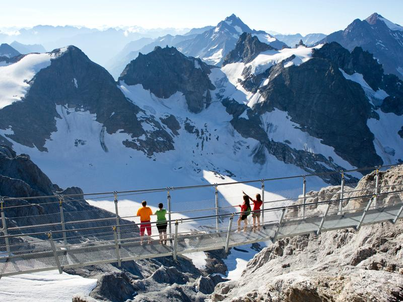 Mount Titlis, Switzerland: Inside, on top and high above a Glacier