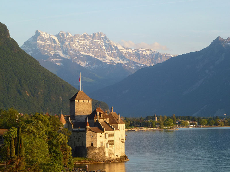 "Cedit: ""Chateau de Chillon Byron view"" by RhodesHilary"