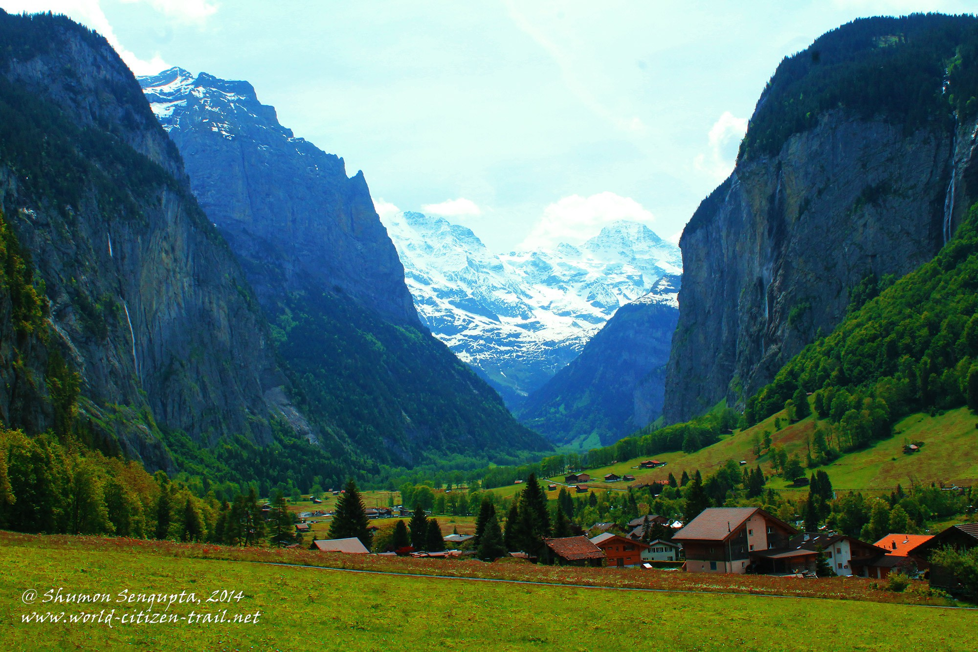 Lauterbrunnen: A Page from a Geography Text Book Coming Live